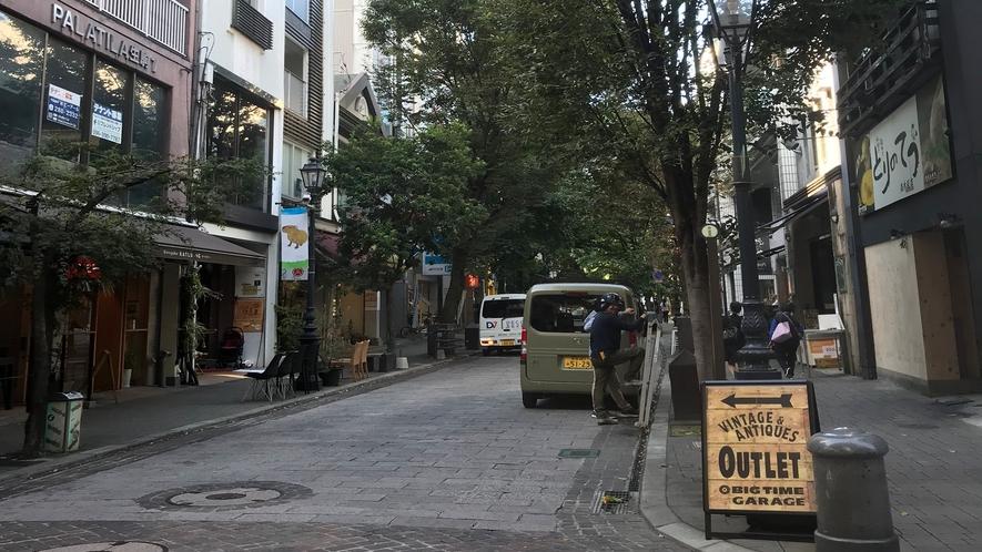 並木坂◇上通アーケードの終点から北に延びる並木通り。昔ながらの商店やおしゃれなレストランがあります