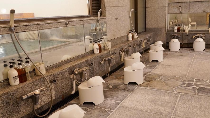 コロナ対策(大浴場洗い場)