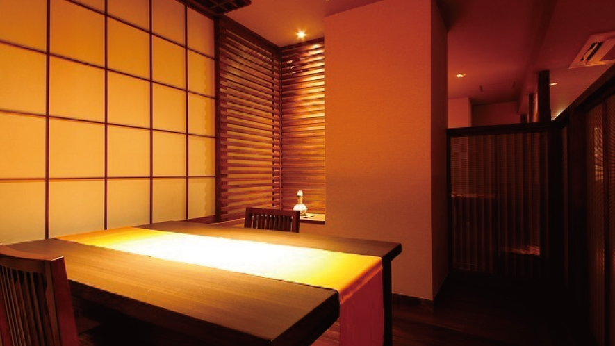 ☆【梅鉢亭】会席料理のお食事処は半個室となっておりプライベート空間でごゆっくりとお召し上がり頂けます