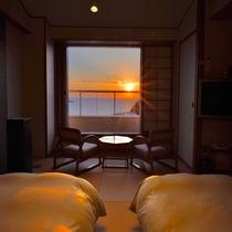 和邸ツインベッド(客室一例)