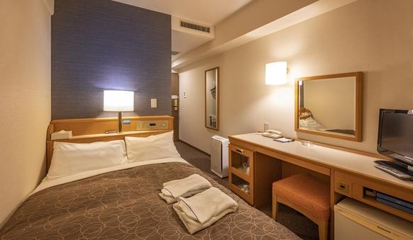 【喫煙】シングルルーム・2名利用 ベッド幅123cm