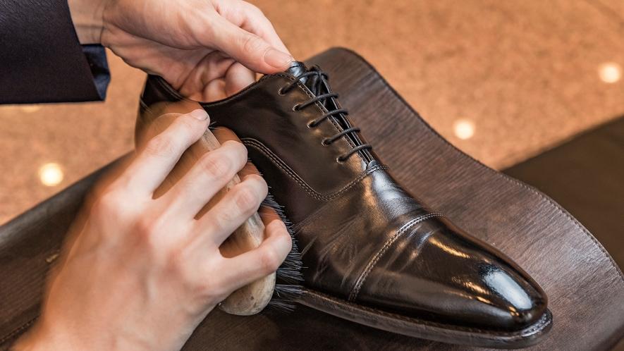 【有料】靴磨きサービス