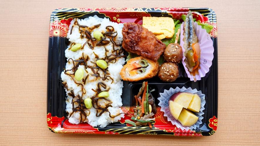 お部屋で朝食【日替わり弁当】昆布と枝豆弁当
