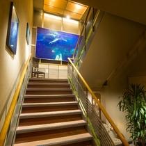 大浴場までの階段