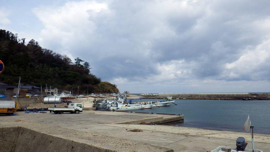 *目の前は港!ダイビングや釣りの方には船を斡旋いたします。