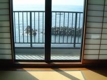 海側の部屋