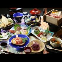◆【ご夕食一例】越後もち豚の地酒蒸し