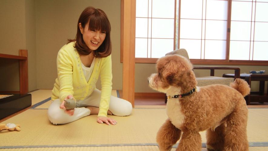 ◆【客室】わんちゃんと一緒にゆっくりお過ごしいただけます