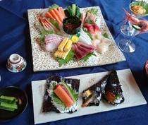 日本海の旬の食材で手巻き寿司