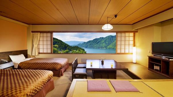 [赤谷湖を一望]ベッドでのんびり■湖側和洋室■禁煙