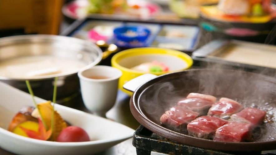■牛ステーキ×豆富懐石の饗宴■
