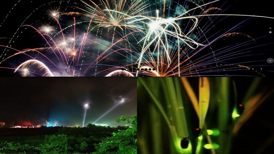 ■夏のイベント■ 湖上花火 フジロック ホタル