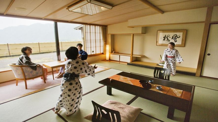 ■湖側の特別室 和室二間■