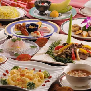 中国料理コースの一例