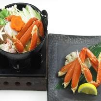 贅沢ズワイ蟹鍋とズワイ蟹盛り