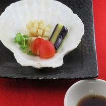 【1月・2月】中国料理 帆立の蒸し物 黒酢ソース添え