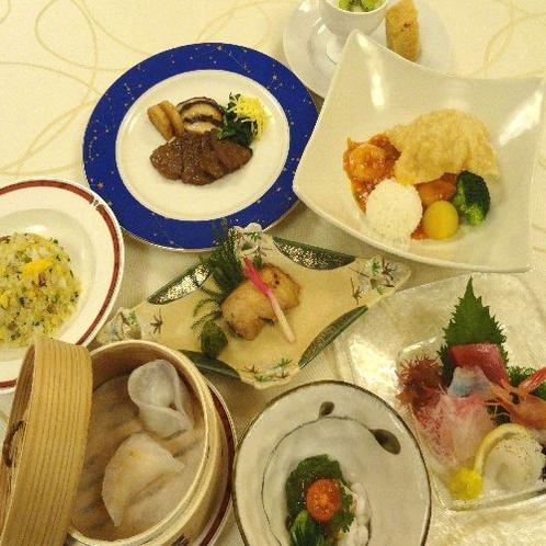 新和・チャイコース☆量控えめ☆ここでしか食べられない和食・中華のコラボ膳
