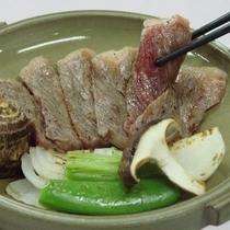 静岡県産 あしたか牛の陶板焼き