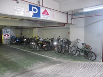 駐輪場(ホテル地下)