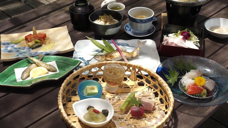 夏の会席料理(一例)