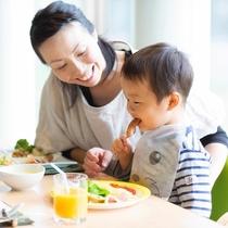 小さなお子様も楽しめる朝食
