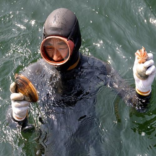 大将が自ら海に潜ります!