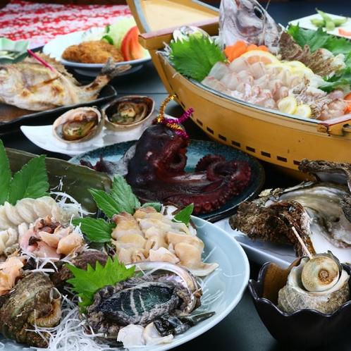 貝尽くしコース◆篠島に来たら絶対味わいたい!当宿主人が潜って獲った貝尽くしのおもてなし