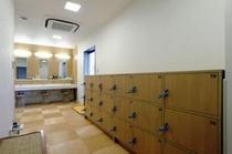 展望浴場の脱衣所