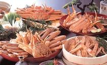 松葉がに料理の一例