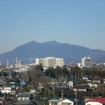 ホテルから見た筑波山(屋上より撮影)