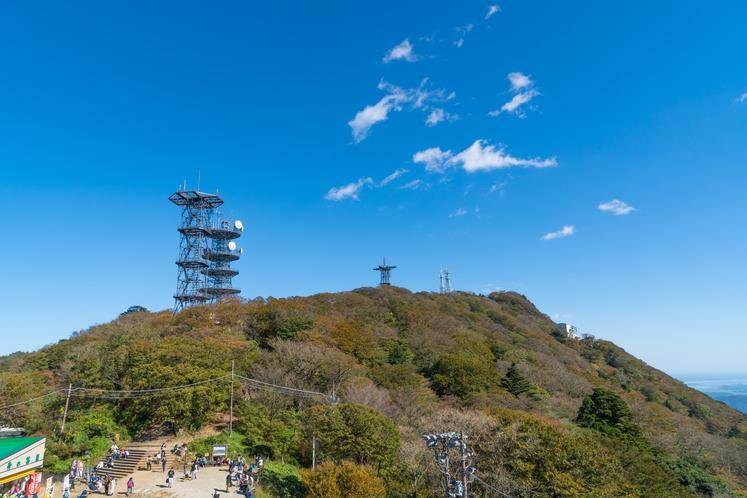 コマ展望台から見た女体山