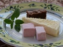 デザートにマシュマロ
