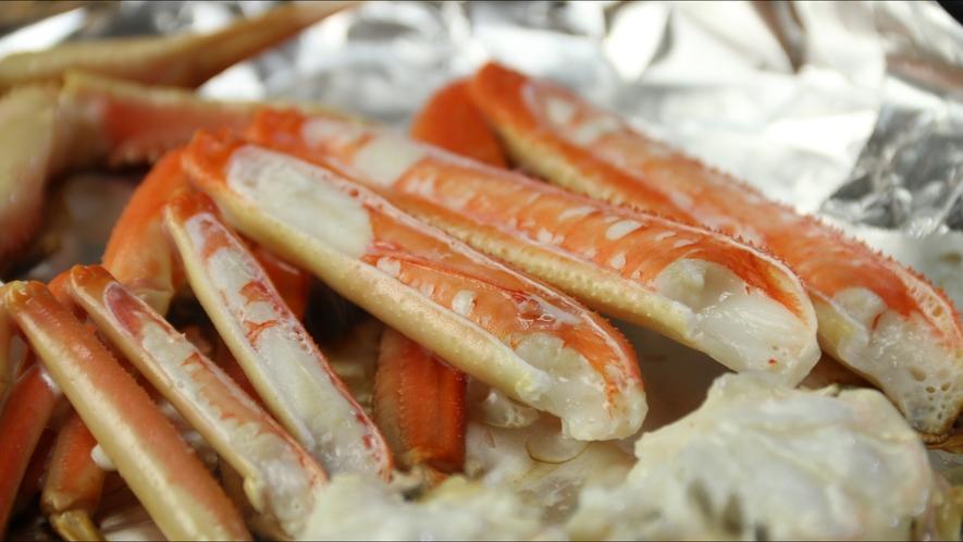 カニの一番旨い食べ方としてお客様より大好評≪焼きガニ≫ホクホクで旨味が凝縮!