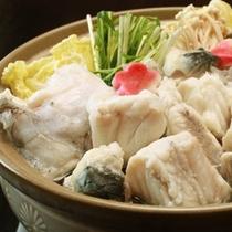 大ぶりの身とお野菜との相性を楽しむ若狭ふぐの≪てっちり≫〆は雑炊で!