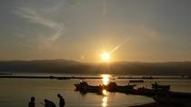 全てのお部屋が海に面していますので、こんな朝焼けの景色に出会えるかも?