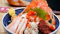 まるまるせいこ蟹を2杯使用!とろける味わいをお楽しみ下さい♪名物『せいこがにどんぶり』要予約