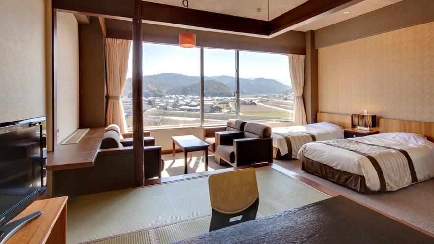 ◆【和洋室】7.5畳+ツインベッド[37平米]