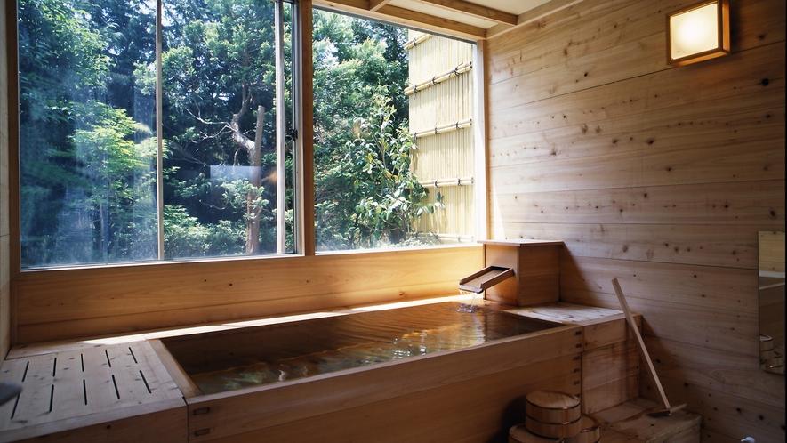◆檜の香り漂う貸切桧風呂