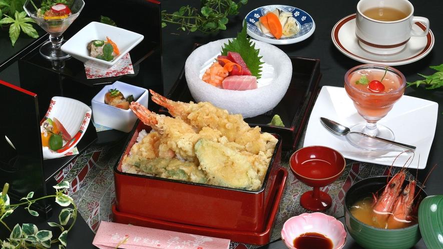 くま海老の天ぷら御膳