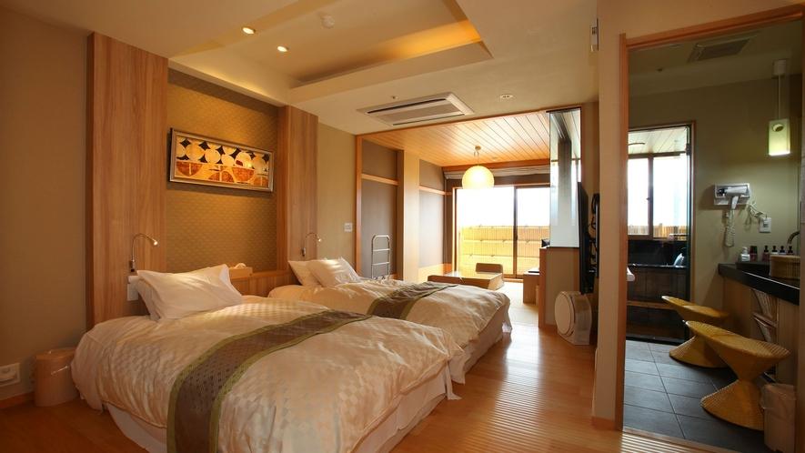 露天風呂付客室≪昌客殿≫和洋室(5畳+2ベッド)