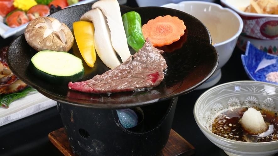 ★甲州牛の陶板焼き