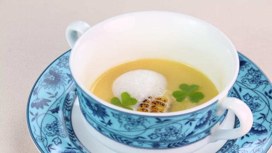 ★北杜市産玉蜀黍の冷たいポタージュ