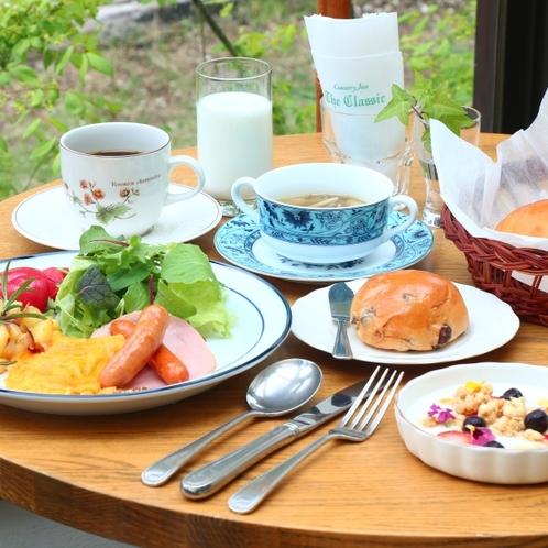 清里の旬の素材を使った洋朝食