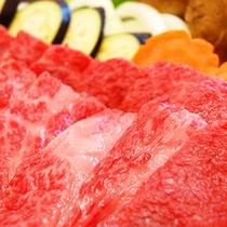 【ご夕食一例】お好きな焼き加減で味わう牛肉の陶板焼き