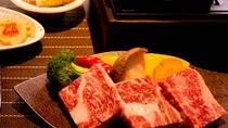駿河牛の陶板焼き