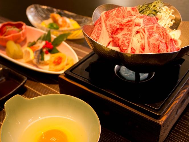静岡産牛のすき焼き!