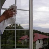1週間に1度、窓拭きもこまめに