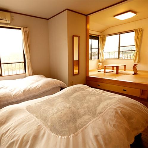 【客室】ツインベッドルーム付和室
