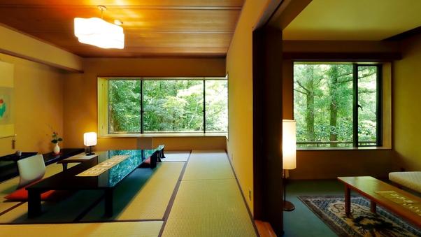 菊の間 ‐庭園を臨む2階特室 和室10畳+ツインベットルーム