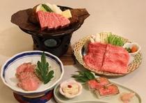 4種類の飛騨牛料理